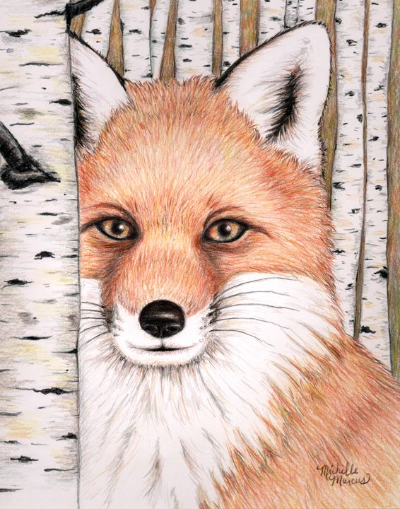 Forest Fox - Michelle Marcus Art