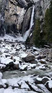 Winter at Yosemite Lower Fall