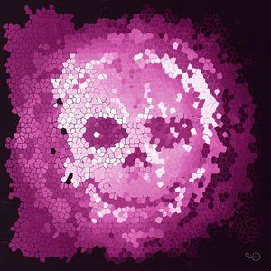 Purple mosaic skull