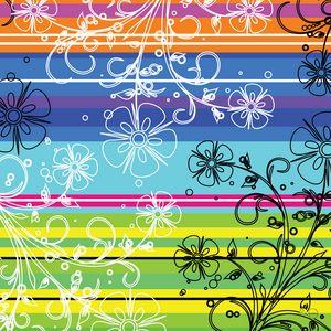 Striped multicolor flowers