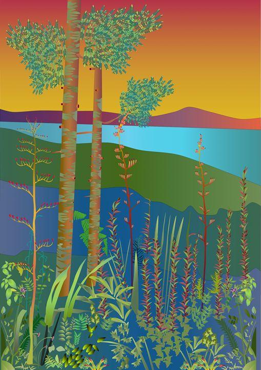 Titirangi - Art By Sarah Molloy NZ