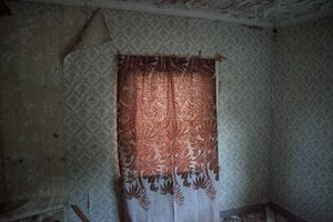 An abandoned curtain
