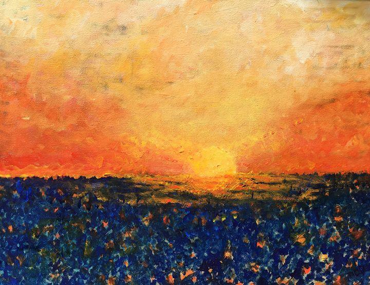 Sunset in Emerald Isle - DeMarco Art Studio
