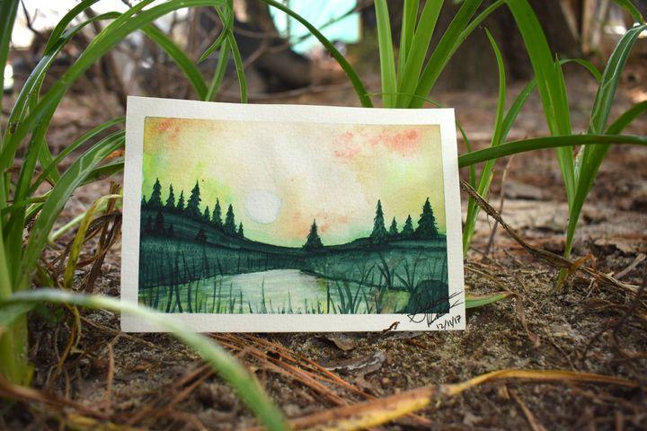 Green lake - SeviPaints