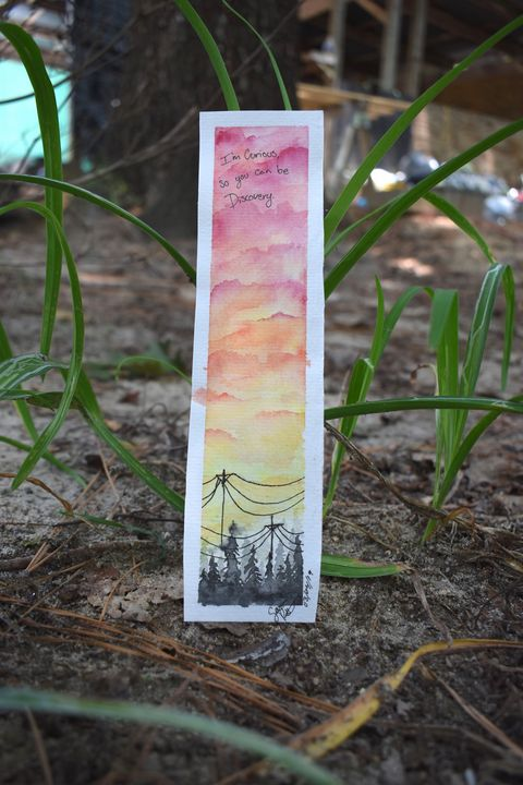 Sunset Bookmark - SeviPaints