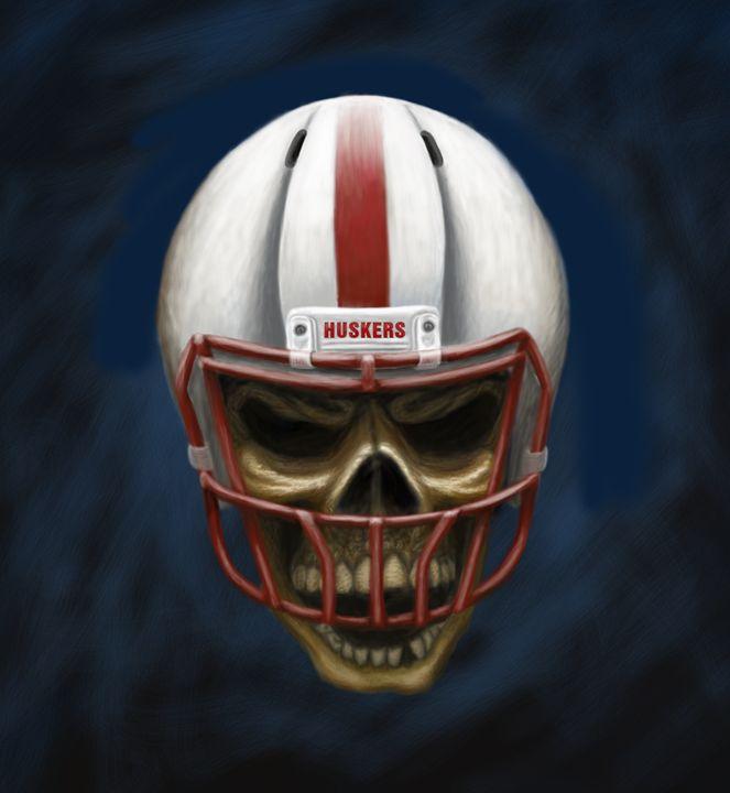 Husker Skull - Moreland Photography & Graphic Design