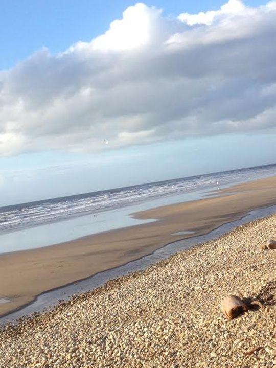 At the beach - Erin