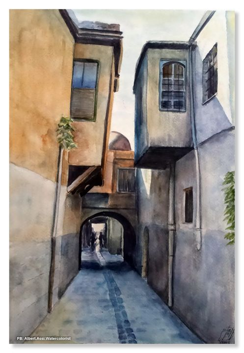 Old Damascus - Alber Assi watercolor paintings