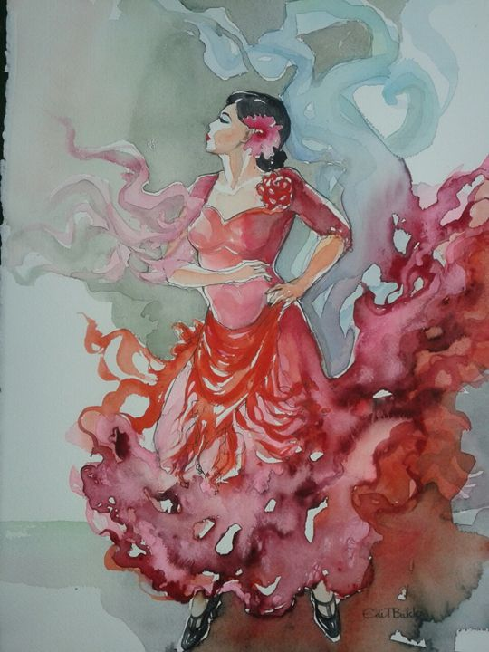 "EDITBAKK "" SPANISH DANCER III "" - KATHERINA PERRY INC"