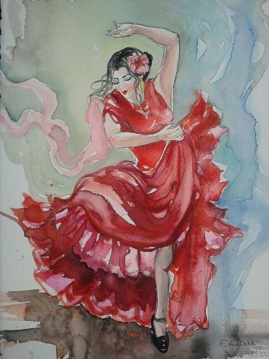 """EDITBAKK """" SPANISH DANCER """" - KATHERINA PERRY INC"""