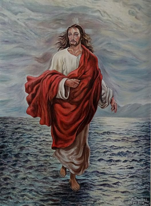 Jesus Christ walking in Sea - XRISTOS