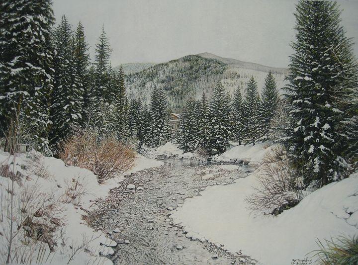 River in snow - XRISTOS