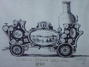 Circus Steam Calliope 1909