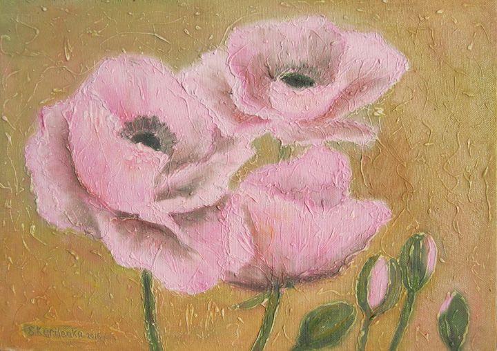 Pink poppies - Sergey Kurilenko Artist