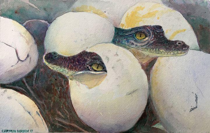 Hatching Alligators - CarmenArt