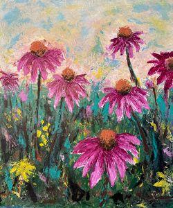 Springtime Flower Power — Coneflower - DanArtUSA