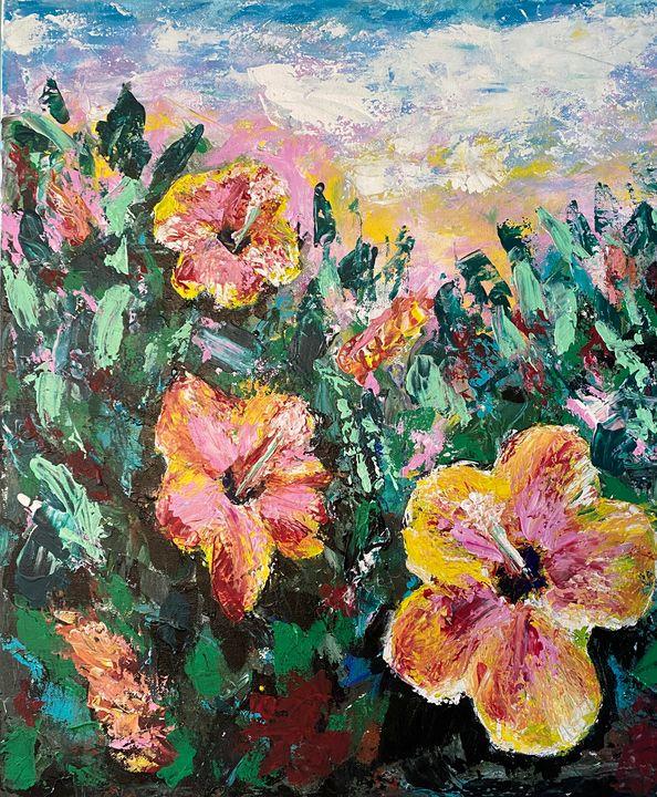 Springtime Flower Power — Hibiscus - DanArtUSA