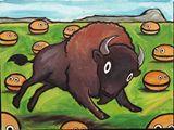 Buffalo chasing Burgers