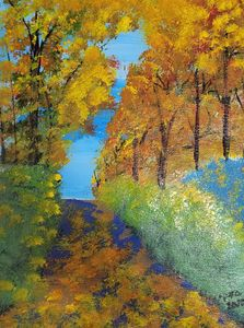 Pathway in Autumn - Gracy's Arts
