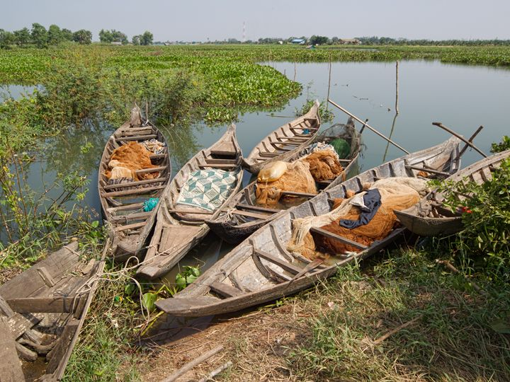 Boats on the Tonle Sap, Cambodia - Ian Kydd Miller