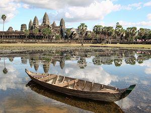 Angkor Wat and a Boat - Ian Kydd Miller