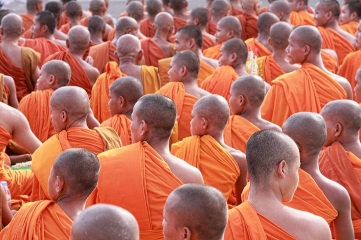Monks in Cambodia - Ian Kydd Miller