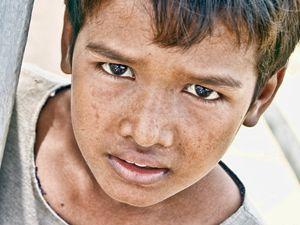 Boy with Sad Eyes (Color)