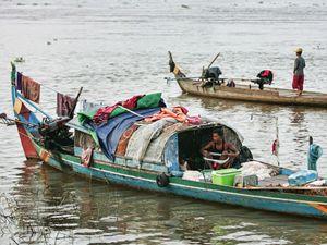 Fishing Boat in Phnom Penh Cambodia