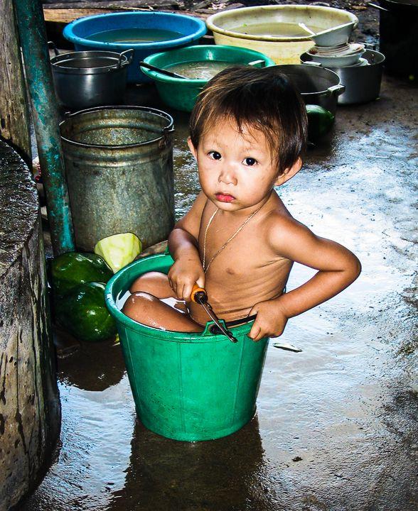 Bath in a Bucket, Vietnam - Ian Kydd Miller