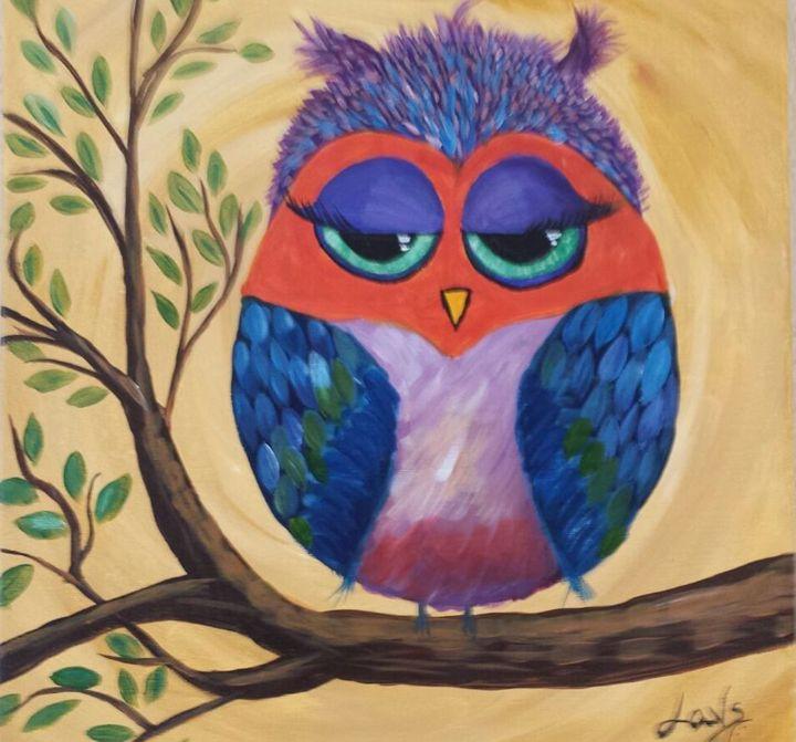 Colorful Owl - slika