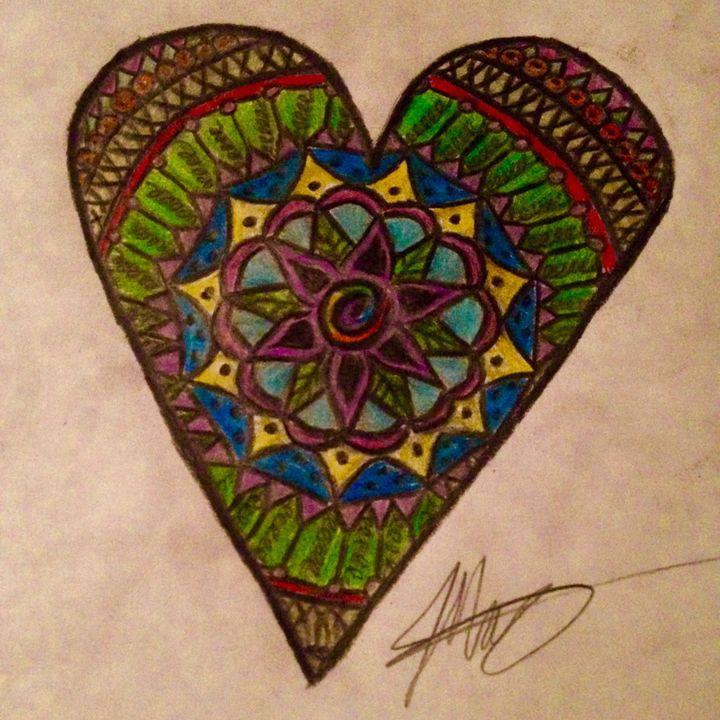 Heart Mandala - Drawings by Jackie