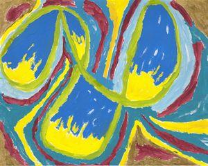 Spectrum Analysis of Meteorite - Artistry by Ruth Robbins