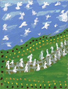 Angelic Impressionistic Landscape - Artistry by Ruth Robbins