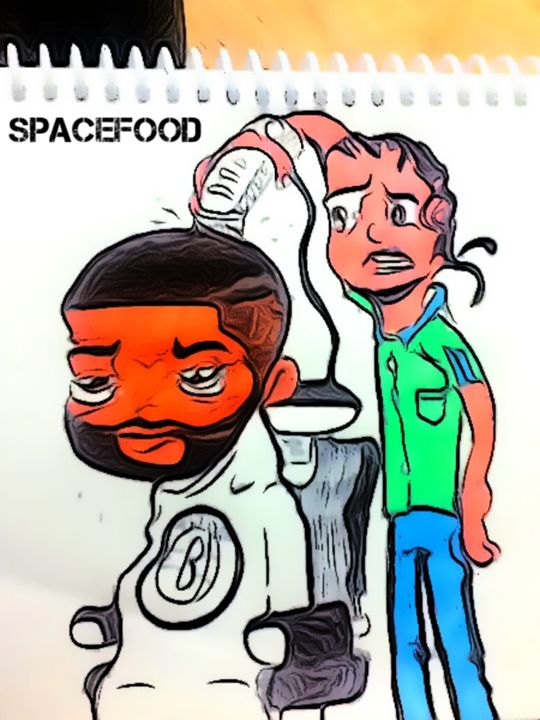 Just another day at the barbershop - Spacefood
