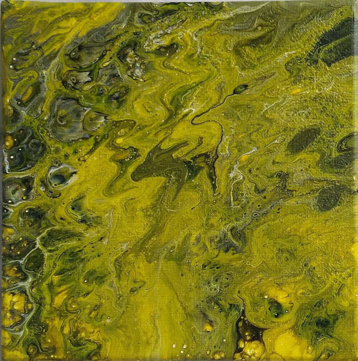 Abstraction around 3 colors : Yellow - IrènEve Augustyniak