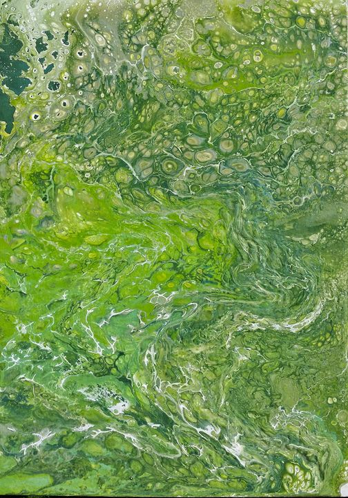 Abstraction in green - IrènEve Augustyniak