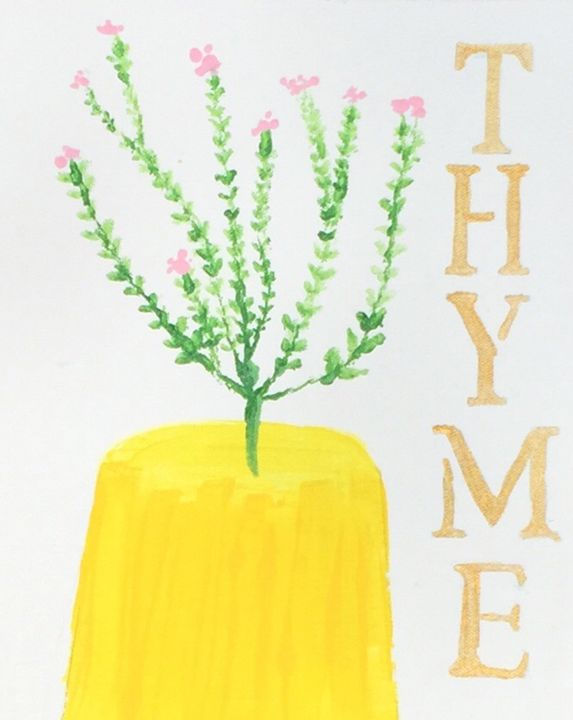 Thyme - Painting and Photography by Julia Malphrus