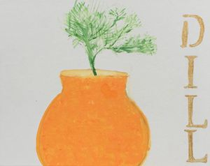 Dill - Painting and Photography by Julia Malphrus