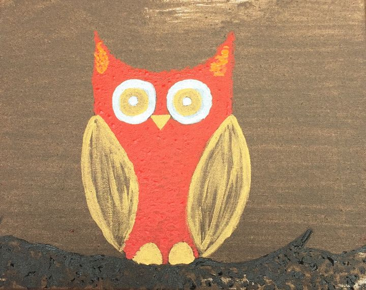 Hoot - Painting and Photography by Julia Malphrus