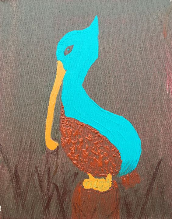 Gio - The Angry Pelican - Painting and Photography by Julia Malphrus