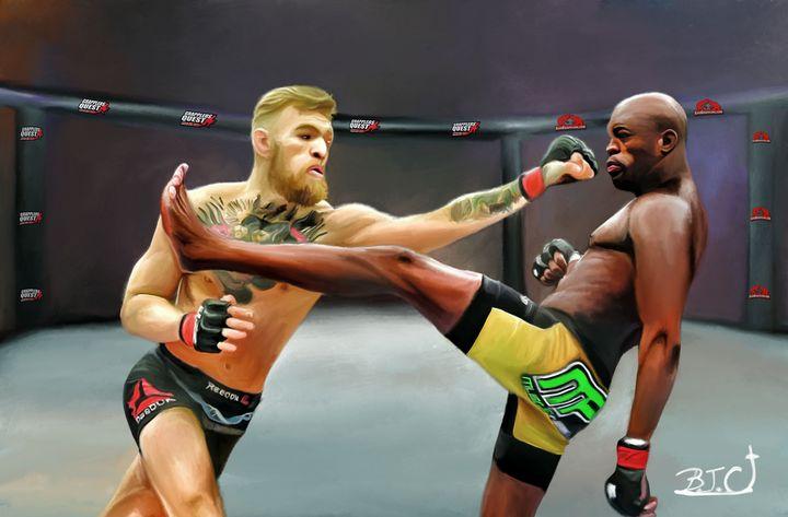 Conor McGregor vs Anderson Silva MMA - Gallery Hope The Art of Loving Kindness