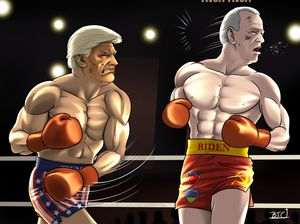 Rocky vs. Drago Trump vs. Biden 2020