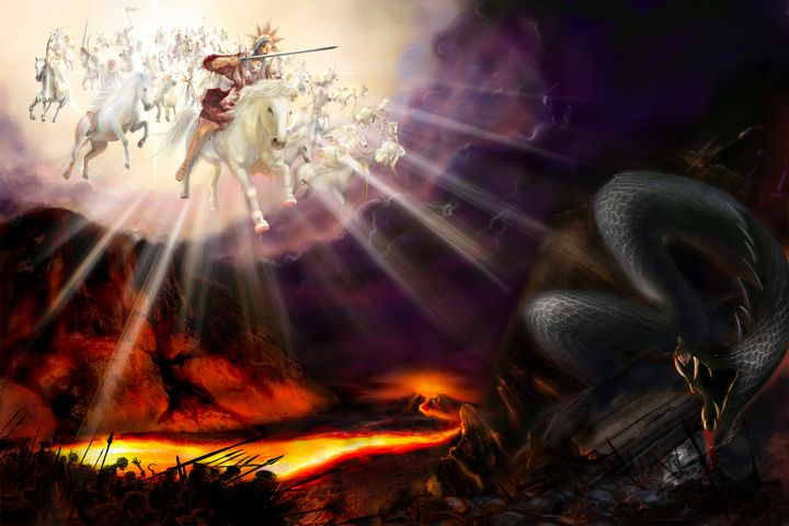 End Of World Jesus Defeats Satan - Gallery Hope The Art of Loving Kindness