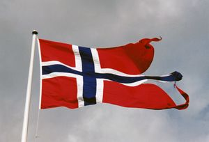 Norway Flag North Sea Military Base