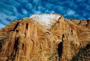 Peak of Mount Zion in Utah