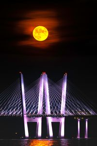 Moon Over Kosciuszko Bridge Brooklyn