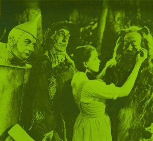 Wizard of Oz NFT Dot Art Green