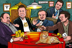 DogeFather Elon Musk and Good Fellas - Gallery Hope The Art of Loving Kindness