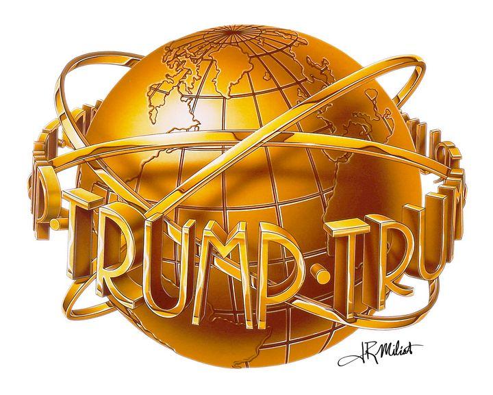 Donald Trump World Gold Globe NYC - Gallery Hope The Art of Loving Kindness