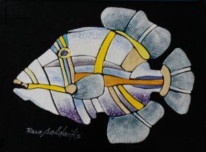 Handmade Ceramic Fish Art by Rosa